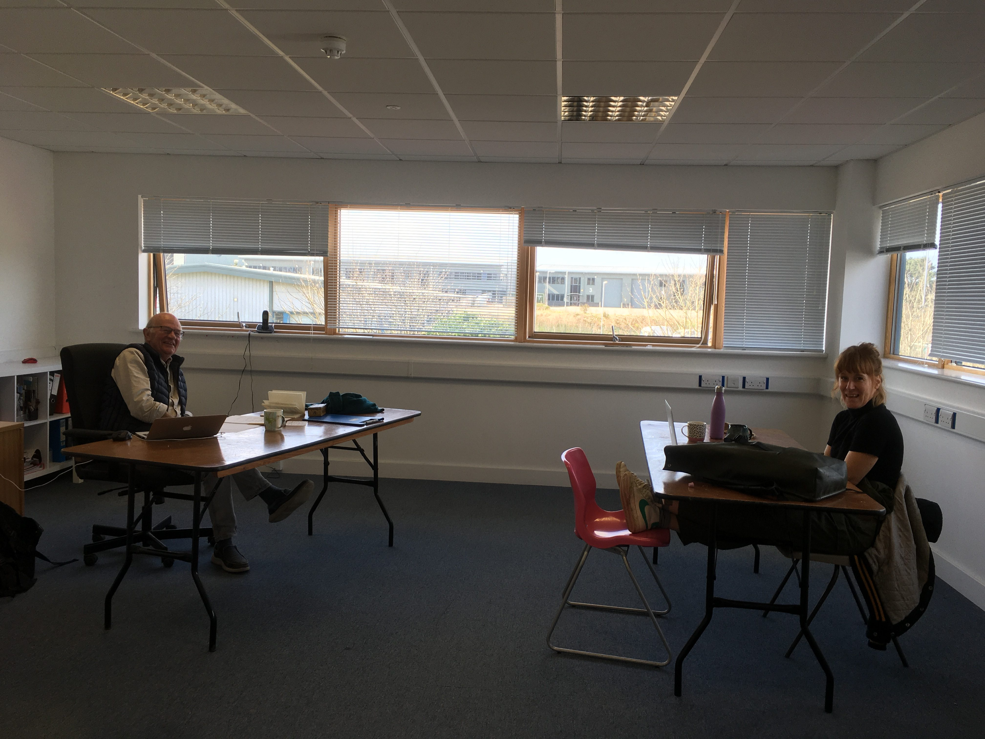 Hot Desking in the upstairs meeting space