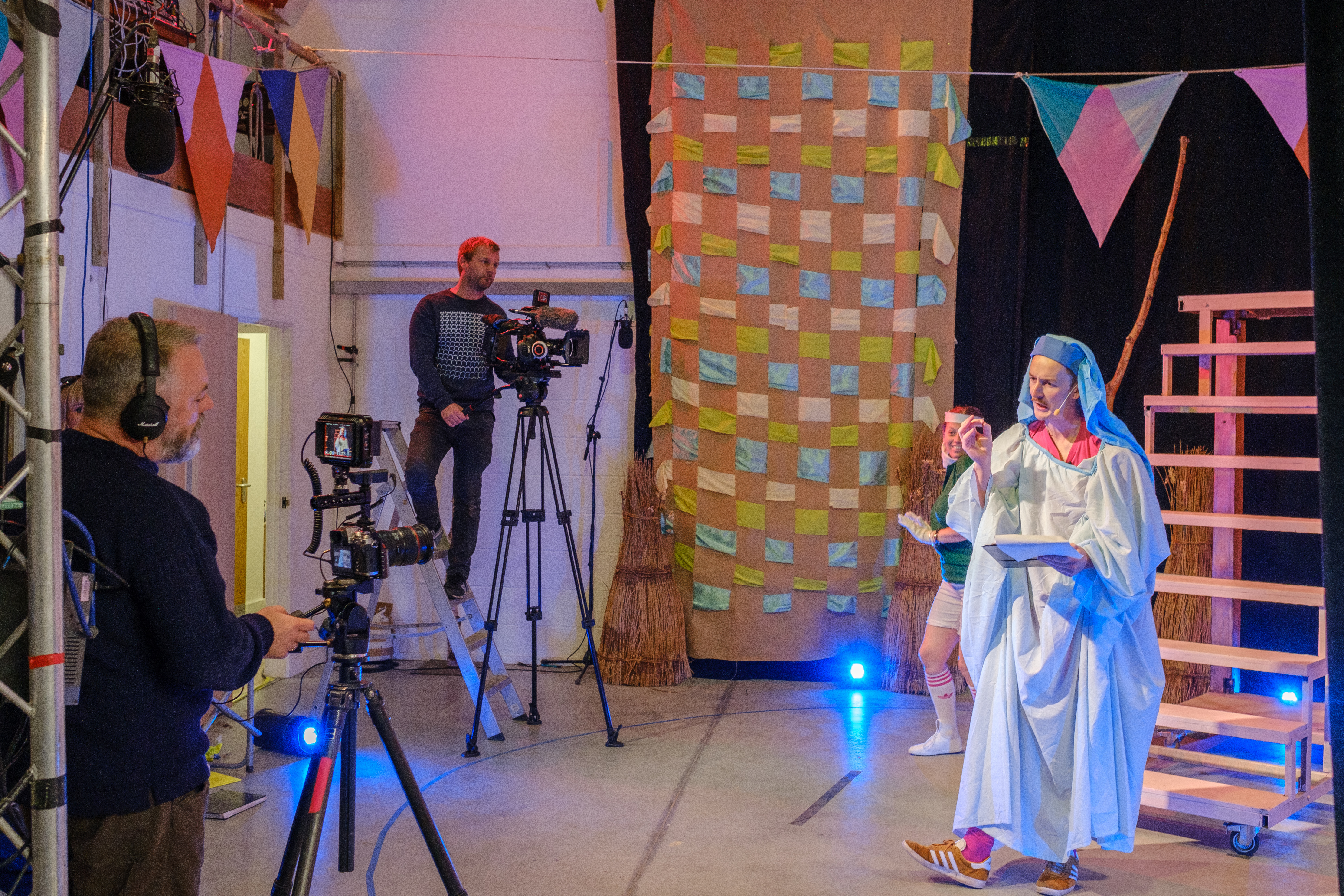 Seamas Carey 'Pagan Pandemonium' film shoot in the Production Space