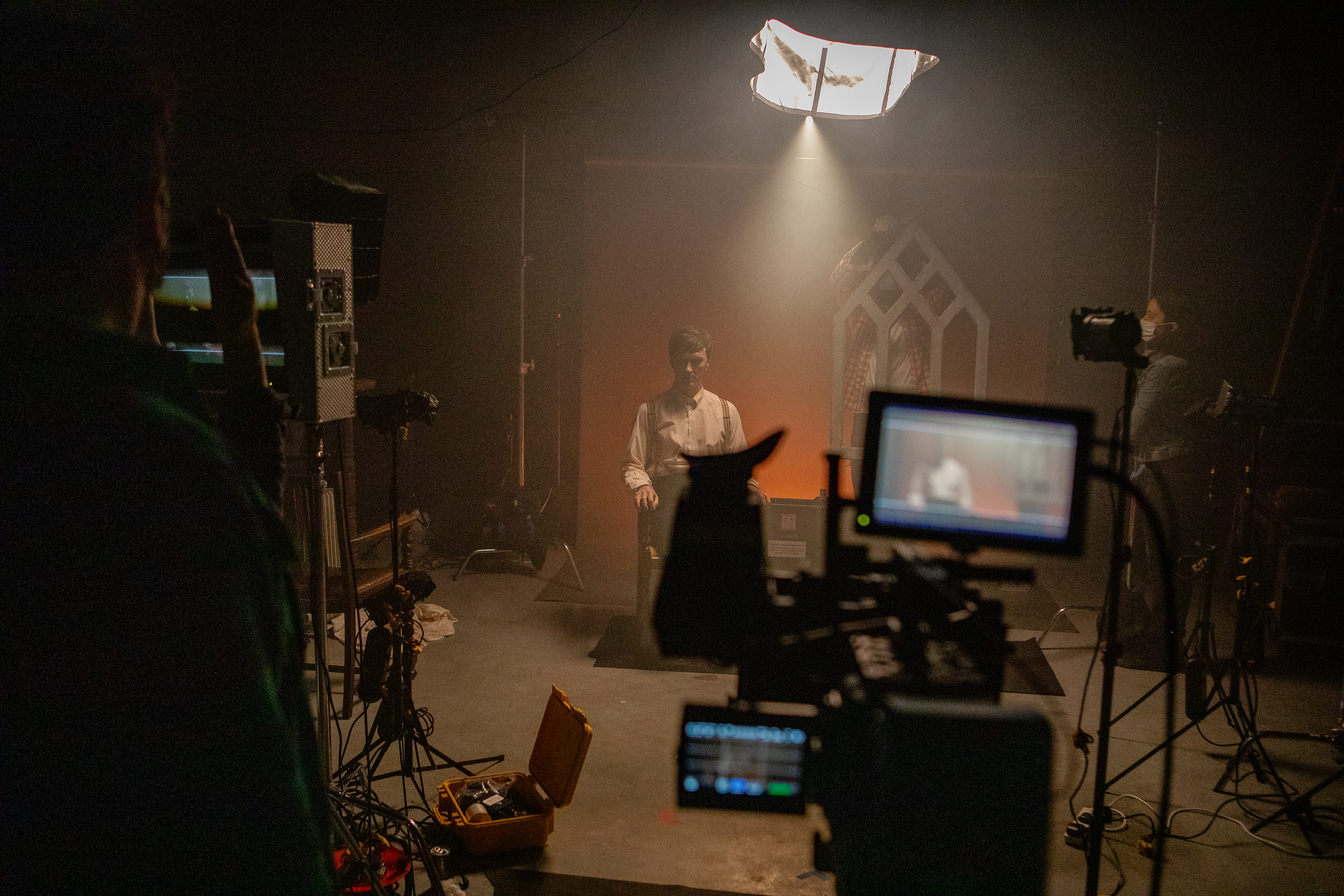 Crashburn Media Shoot in Production Space